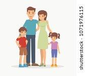happy family with children...   Shutterstock .eps vector #1071976115
