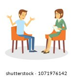 a depressed young man doing...   Shutterstock .eps vector #1071976142
