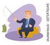funny fat men capitalists in...   Shutterstock .eps vector #1071976145