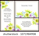 invitation with floral... | Shutterstock .eps vector #1071984908