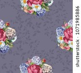beautiful floral seamless... | Shutterstock .eps vector #1071985886