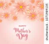 mother's day greeting card with ... | Shutterstock .eps vector #1071989135