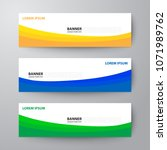 modern geometrics banners web... | Shutterstock .eps vector #1071989762