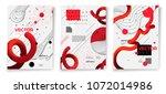 vector new memphis style poster ... | Shutterstock .eps vector #1072014986