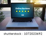 online reviews evaluation time... | Shutterstock . vector #1072023692
