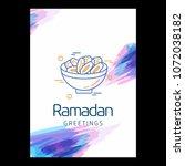 ramadan kareem vector... | Shutterstock .eps vector #1072038182