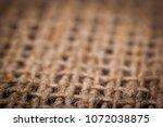 flax fiber  linen fabric  raw...   Shutterstock . vector #1072038875