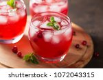 summer cold beverage with... | Shutterstock . vector #1072043315