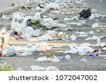road and footpath full of...   Shutterstock . vector #1072047002