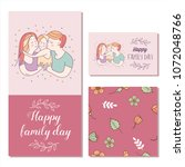 happy family. vector... | Shutterstock .eps vector #1072048766