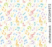 colorful music notes background. | Shutterstock .eps vector #1072049372