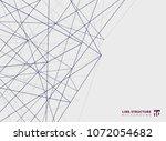 abstract overlap lines...   Shutterstock .eps vector #1072054682