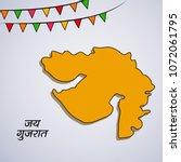illustration of indian state...   Shutterstock .eps vector #1072061795