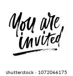 you are invited brush... | Shutterstock .eps vector #1072066175