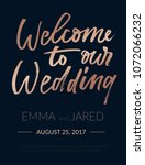 welcome to our wedding...   Shutterstock .eps vector #1072066232