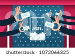 vote usa 2018  voting concept... | Shutterstock .eps vector #1072066325