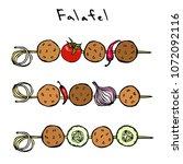 falafel  vegetables tomato ...   Shutterstock .eps vector #1072092116