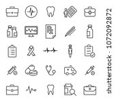 simple collection of medical... | Shutterstock .eps vector #1072092872