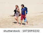 wells next the sea beach ... | Shutterstock . vector #1072093232