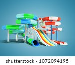 water attractions with spring... | Shutterstock . vector #1072094195