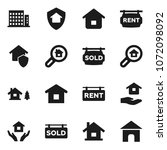flat vector icon set   house... | Shutterstock .eps vector #1072098092