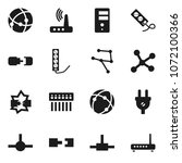 flat vector icon set   connect... | Shutterstock .eps vector #1072100366