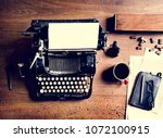 aerial view of retro vintage... | Shutterstock . vector #1072100915