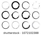 circles in the form of brush... | Shutterstock .eps vector #1072102388