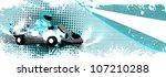 abstract grunge color gocart... | Shutterstock . vector #107210288