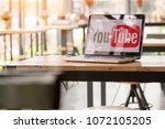 Small photo of Thailand , Bangkok - April 6, 2018: YouTube allows billions of people to discover background created videos.