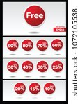 collection discount sticker... | Shutterstock .eps vector #1072105538