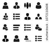 flat vector icon set   manager...