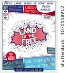 land of the free. poster design ... | Shutterstock .eps vector #1072118912