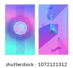 set of futuristic abstract...
