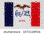 flag of american state iowa... | Shutterstock . vector #1072128926