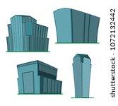 set of four modern high rise... | Shutterstock .eps vector #1072132442