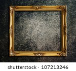 old picture frame on grunge... | Shutterstock . vector #107213246