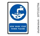 now wash your hands please... | Shutterstock .eps vector #1072132706