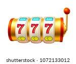 golden slot machine with handle ...   Shutterstock .eps vector #1072133012