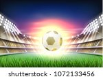 football soccer stadium tribune ... | Shutterstock .eps vector #1072133456