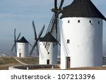 Group Of Traditional Windmills...