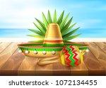 realistic mexican maracas ... | Shutterstock .eps vector #1072134455