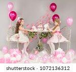 children birthday party  girls... | Shutterstock . vector #1072136312