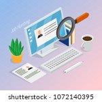 employment and recruitment... | Shutterstock .eps vector #1072140395