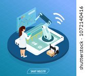 smart industry isometric... | Shutterstock .eps vector #1072140416