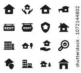 flat vector icon set   house... | Shutterstock .eps vector #1072144802