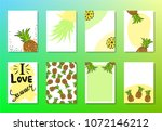 summer set of 8 redy to use... | Shutterstock .eps vector #1072146212