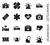 flat vector icon set   first... | Shutterstock .eps vector #1072150496