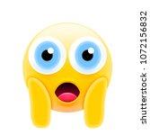 face screaming in fear emoji... | Shutterstock .eps vector #1072156832