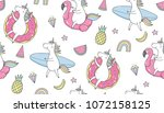 cool summer stickers or patches ... | Shutterstock .eps vector #1072158125